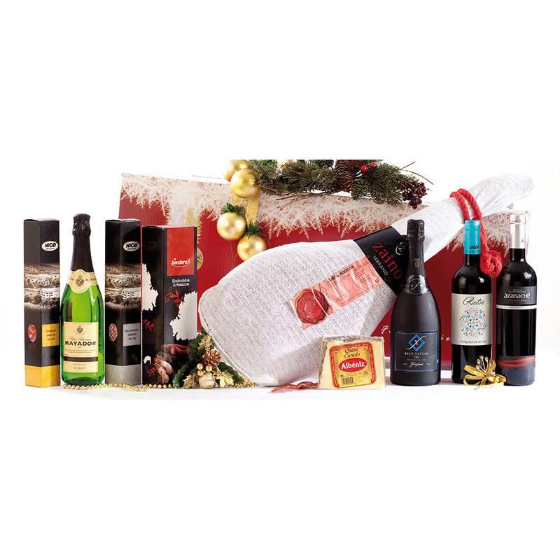 Cesta de navidad ref 47027 elcuentavinos for Productos de navidad